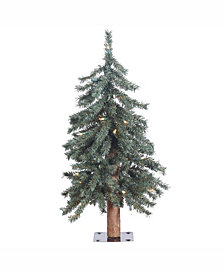 Vickerman 2 ft Natural Bark Alpine Artificial Christmas Tree