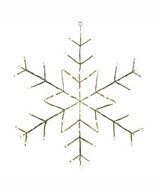 """48"""" C7 Led Snowflake Wire Silhouette"""
