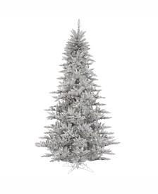Vickerman 5.5' Silver Tinsel Fir Artificial Christmas Tree Unlit