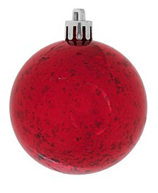 "4.75"" Red Shiny Mercury Ball Christmas Ornament, 4 Per Bag"