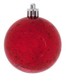 """Vickerman 4.75"""" Red Shiny Mercury Ball Christmas Ornament, 4 Per Bag"""