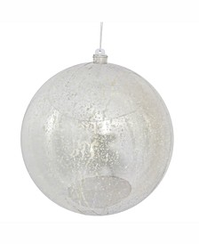 "8"" Silver Shiny Mercury Ball Christmas Ornament"