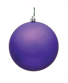 "Vickerman 10"" Purple Matte Uv Treated Ball Christmas Ornament"