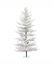 Vickerman 5 ft X 32 inch Flocked Winter Twig Pine Artificial Christmas Tree
