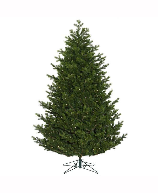 """Vickerman 7.5' X 60"""" Eagle Frasier Full Artificial Christmas Tree Features 3357 Pe/Pvc Tips"""