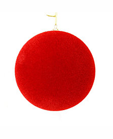 "Vickerman 12"" Red Flocked Ball Ornament"