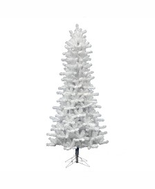 Vickerman 7.5 ft Crystal White Pine Slim Artificial Christmas Tree Unlit