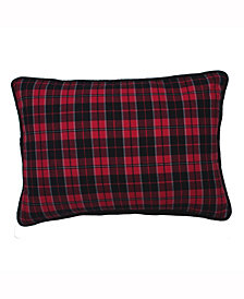 Vickerman Decorative Pillow Featuring Traditional Holiday Plaid