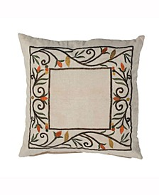 Decorative Pillow Featuring Fall Harvest Border