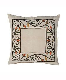 Vickerman Decorative Pillow Featuring Fall Harvest Border