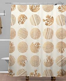 Deny Designs Iveta Abolina Vanilla Dot Shower Curtain