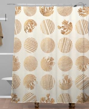 Deny Designs Iveta Abolina Vanilla Dot Shower Curtain Bedding