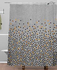 Iveta Abolina Gray Splash Shower Curtain