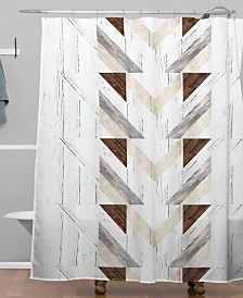 Deny Designs Iveta Abolina Geo Wood 4 Shower Curtain