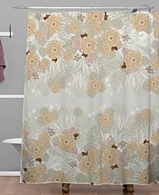 Iveta Abolina White Frost Shower Curtain