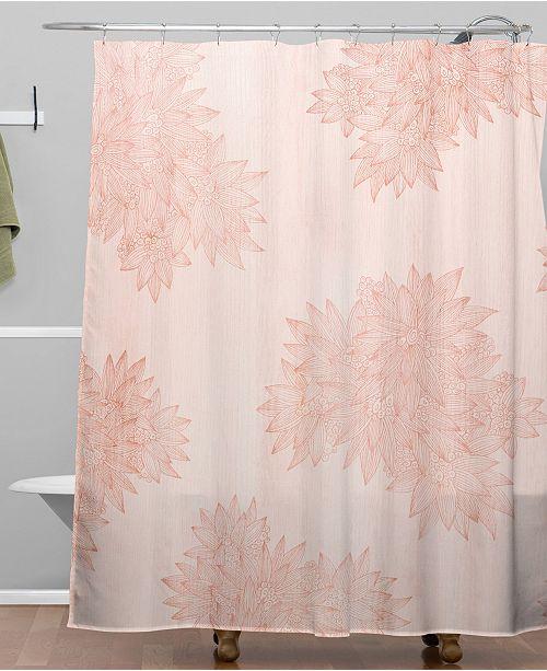 Deny Designs Iveta Abolina Beach Day Pink Shower Curtain