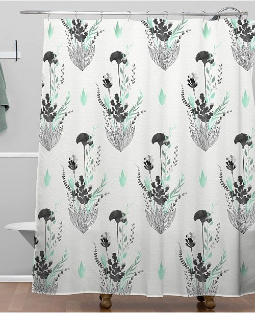 Deny Designs Iveta Abolina Mint Tea Shower Curtain