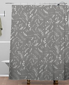 Iveta Abolina Study in Gray X Shower Curtain