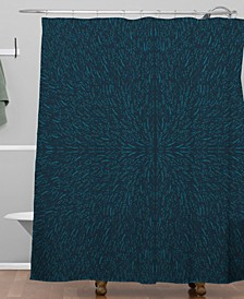 Iveta Abolina Peacock Pond Shower Curtain