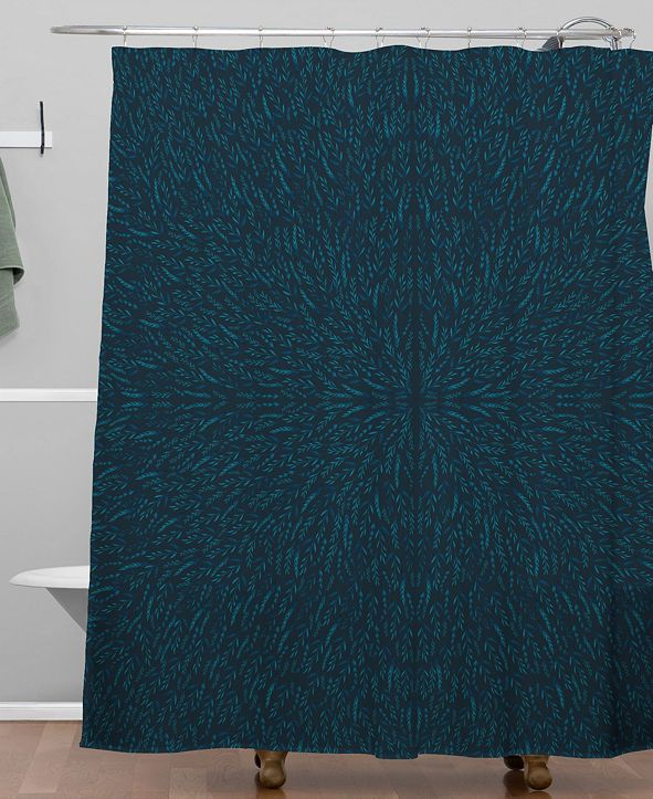 Deny Designs Iveta Abolina Peacock Pond Shower Curtain