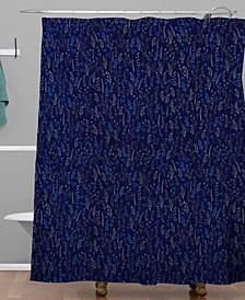 Iveta Abolina Royal Blue Silk Shower Curtain