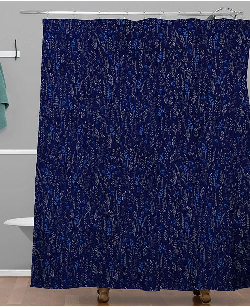 Deny Designs Iveta Abolina Royal Blue Silk Shower Curtain