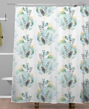 Deny Designs Iveta Abolina Seaflower Shower Curtain Bedding