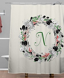 Iveta Abolina Silver Dove Christmas N Shower Curtain