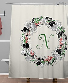 Deny Designs Iveta Abolina Silver Dove Christmas N Shower Curtain