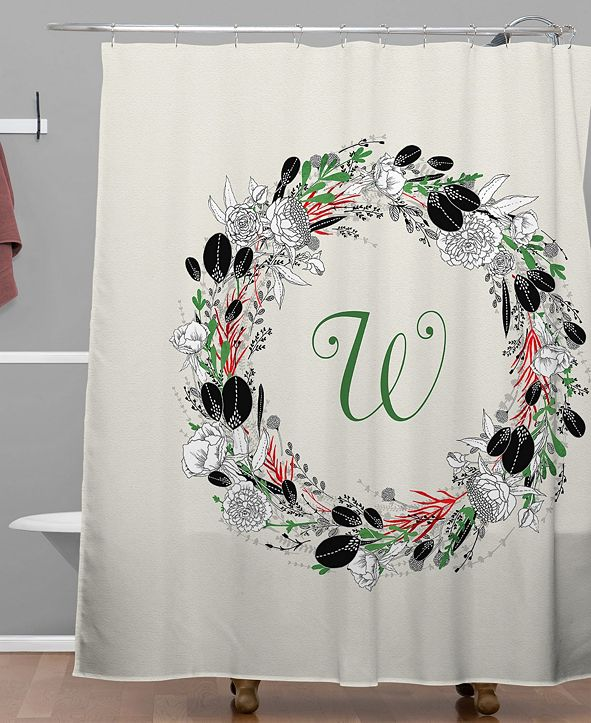 Deny Designs Iveta Abolina Silver Dove Christmas W Shower Curtain