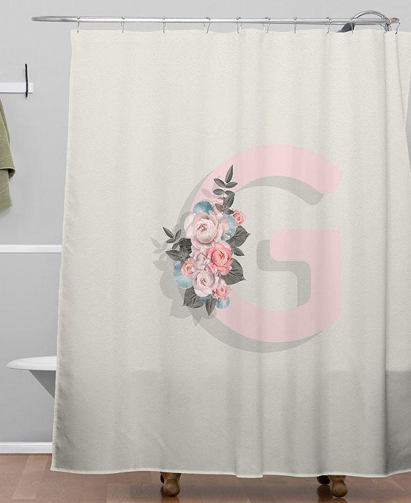 Deny Designs Iveta Abolina Pivoine G Shower Curtain