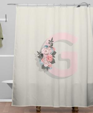 Deny Designs Iveta Abolina Pivoine G Shower Curtain Bedding
