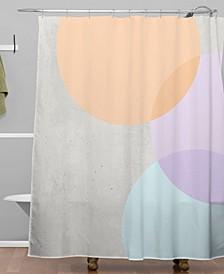 Iveta Abolina Peach Cobbler Shower Curtain