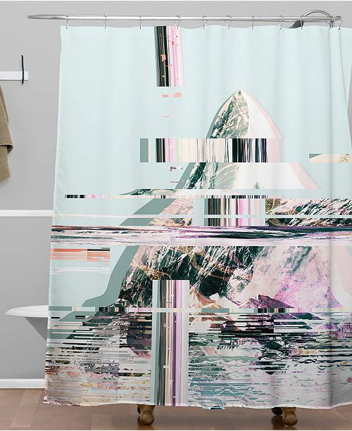 Deny Designs Iveta Abolina Frozen Mint Shower Curtain