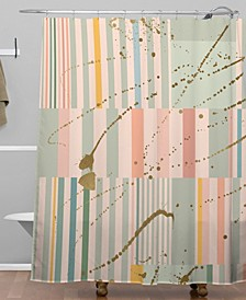 Iveta Abolina Lisbon Stripe Shower Curtain