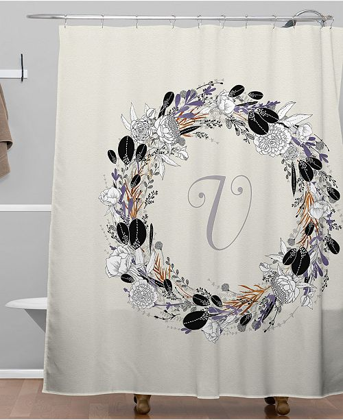 Deny Designs Iveta Abolina Silver Dove V Shower Curtain