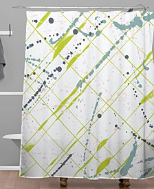 Iveta Abolina Green Thursday Shower Curtain