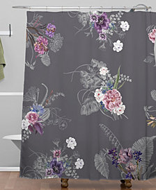 Deny Designs Iveta Abolina French Countryside Charcoal Shower Curtain