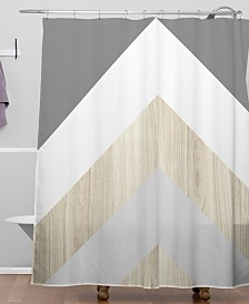 Deny Designs Iveta Abolina Chevron Peak Shower Curtain