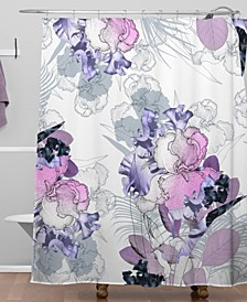Iveta Abolina Iris Garden Shower Curtain