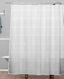 Deny Designs Iveta Abolina Black And White Play Shower Curtain