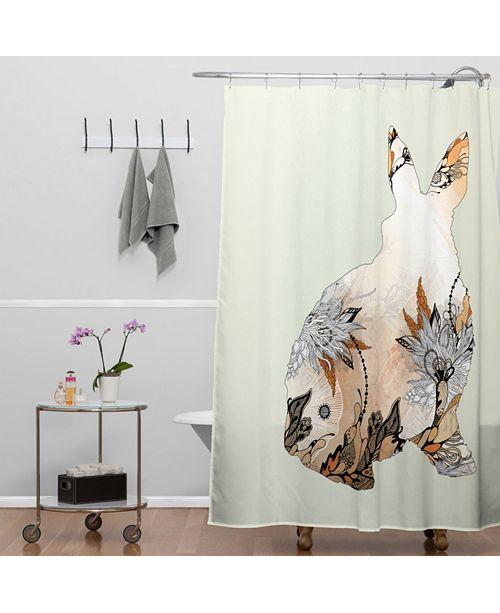 Deny Designs Iveta Abolina Rhino Shower Curtain