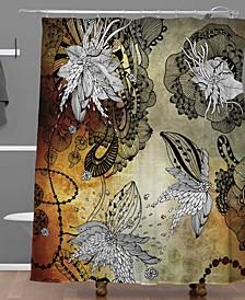 Iveta Abolina Coral Feathers Shower Curtain