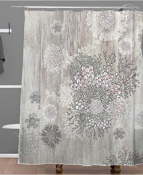 Iveta Abolina Pink Wave Shower Curtain