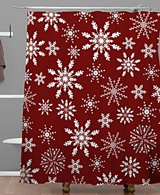 Iveta Abolina Silent Night Red Shower Curtain
