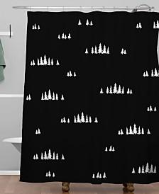 Deny Designs Iveta Abolina Pine Tree Garden Shower Curtain