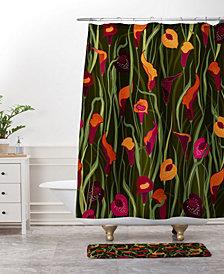 Deny Designs Iveta Abolina Poinsettia Ruby Bath Mat