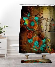 Deny Designs Iveta Abolina Skulls And Roses Bath Mat