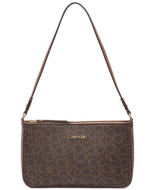 Calvin Klein Mercy Signature Shoulder Bag & Reviews