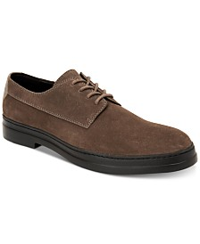 Calvin Klein Men's Rickie Plain-Toe Suede Oxfords